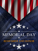 Memorial day background. National holiday of the USA.