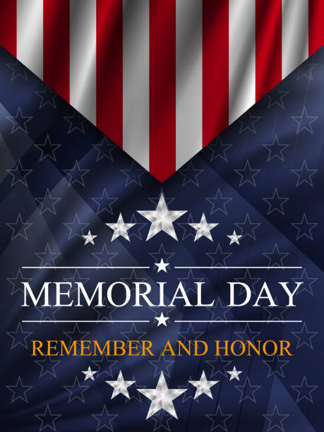 Memorial day background. National holiday of the USA. Memorial day background. National holiday of the USA. Vector illustration. memorial day stock illustrations