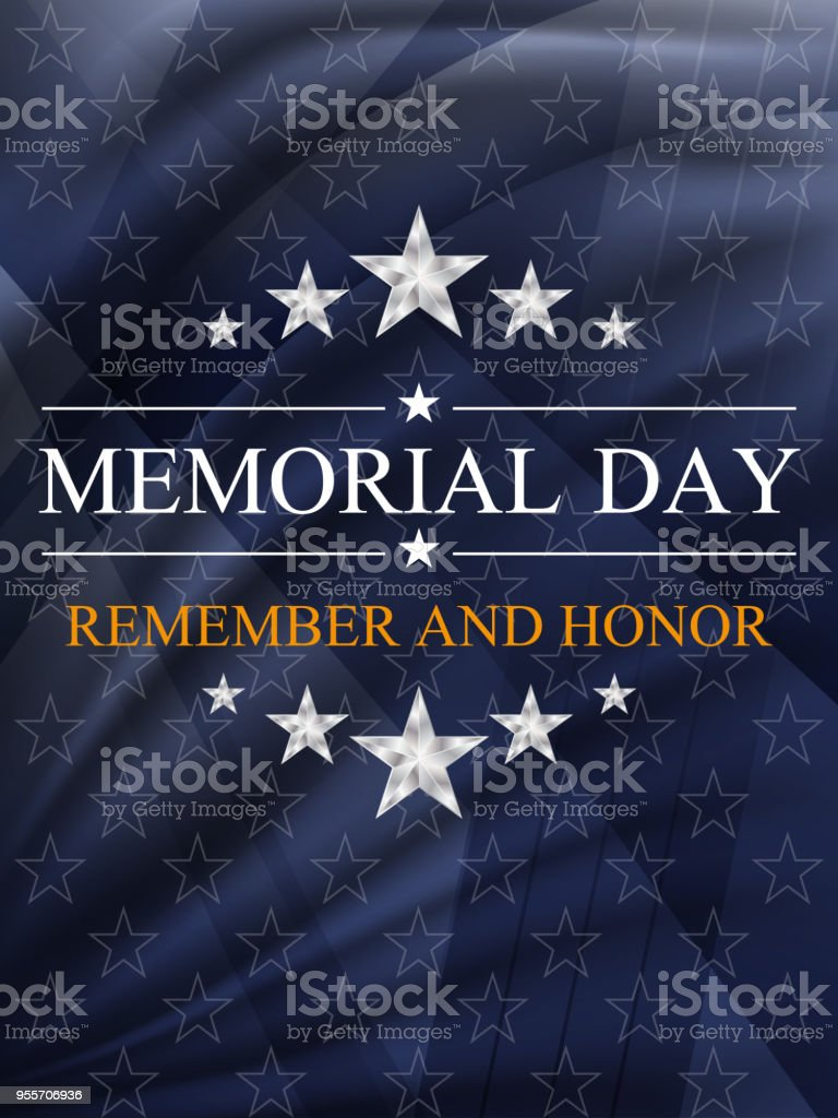Memorial day background. National holiday of the USA. Vector illustration. vector art illustration