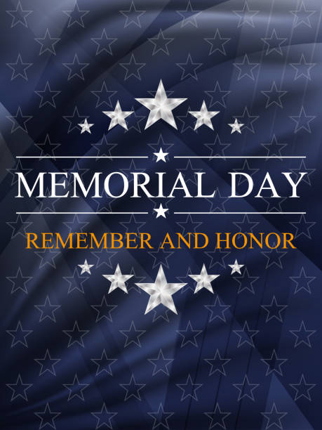 memorial day background. national holiday of the usa. vector illustration. - memorial day stock illustrations