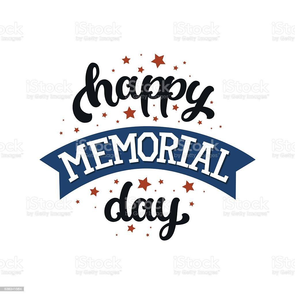 memorial day background vector art illustration