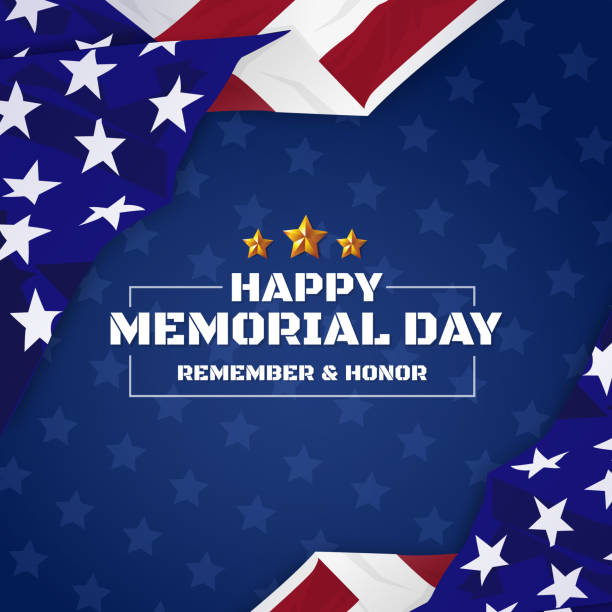 usa memorial day background - happy 4th of july stock illustrations