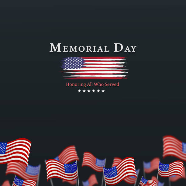 memorial day background,united states flag, with respect honor and gratitude posters, modern design vector illustration - memorial day weekend stock illustrations