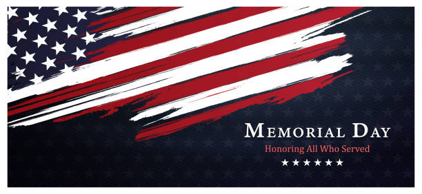 memorial day background,united states flag, with respect honor and gratitude posters, modern design vector illustration - holiday background stock illustrations