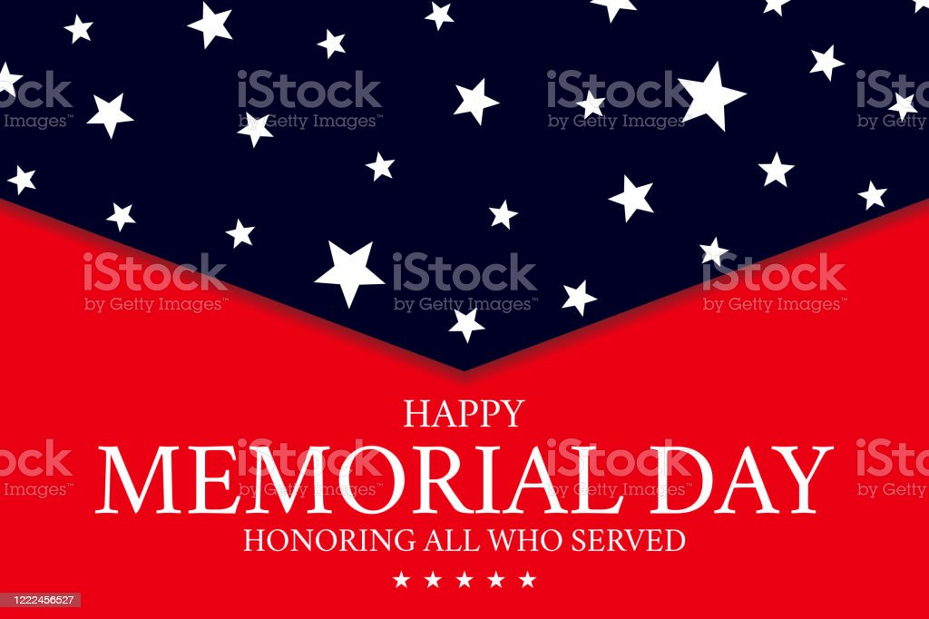 Usa Memorial Day Banner Background Stock Illustration Download Image Now Istock