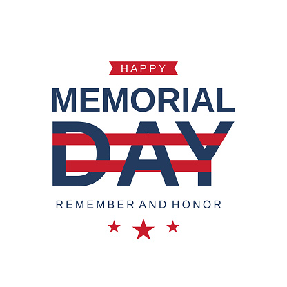 Memorial Day card. Remember and honor. Vector