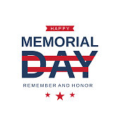 Memorial Day card. Remember and honor. Vector illustration. EPS10