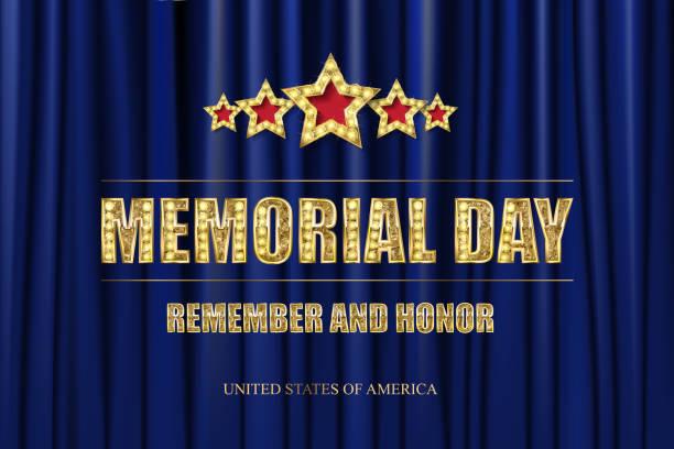 memorial day. greeting card. - memorial day weekend stock illustrations