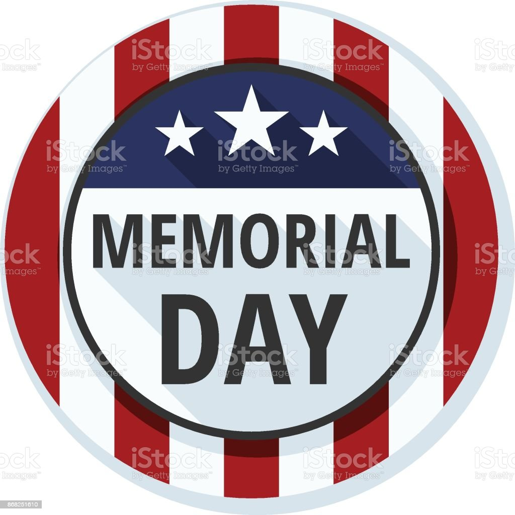 Memorial Day label illustration vector art illustration