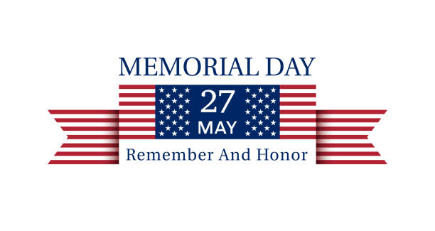 USA Memorial Day Poster May 27, 2019 vector art illustration