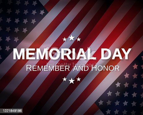 Memorial Day poster. Remember and honor. Vector illustration. EPS10