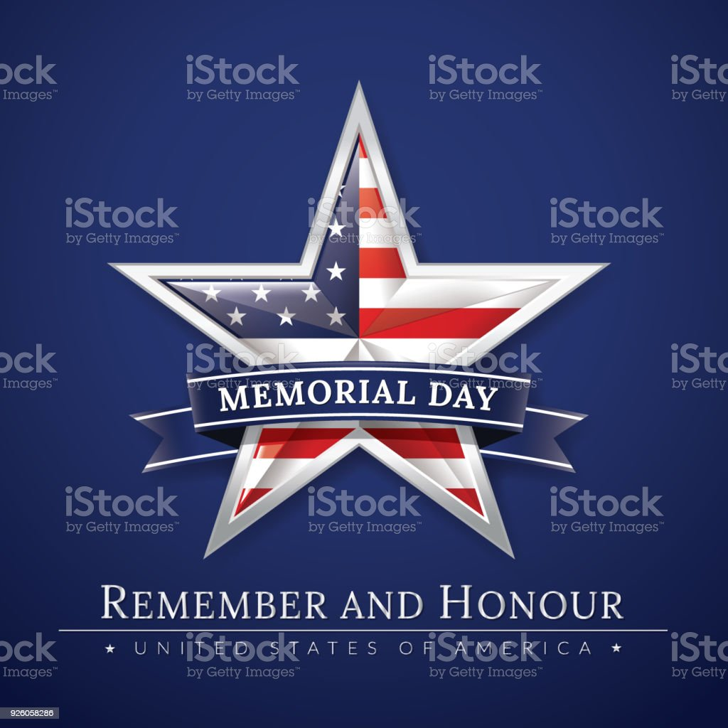 memorial day poster stock vector art more images of celebration