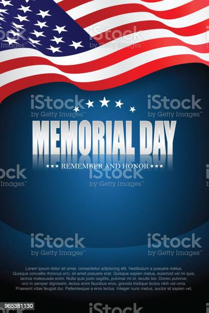 Dzień Pamięci Pamiętaj I Honoruj 10 - Stockowe grafiki wektorowe i więcej obrazów Tło