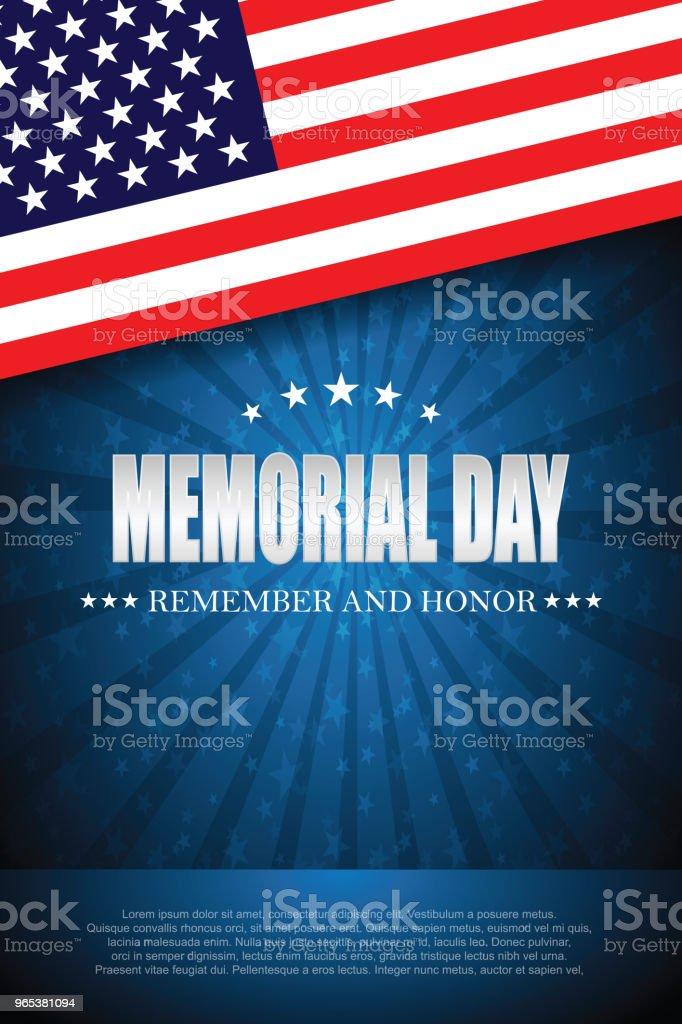 Memorial day. Remember and honor 2 memorial day remember and honor 2 - stockowe grafiki wektorowe i więcej obrazów czerwony royalty-free