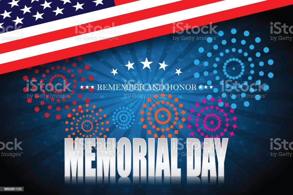 Memorial day. Remember and honor 7 memorial day remember and honor 7 - stockowe grafiki wektorowe i więcej obrazów czerwony royalty-free