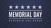 US Memorial Day - Remember and Honor greeting card with symbols of the USA