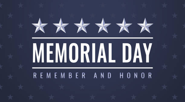 us memorial day - remember and honor flyer - memorial day stock illustrations