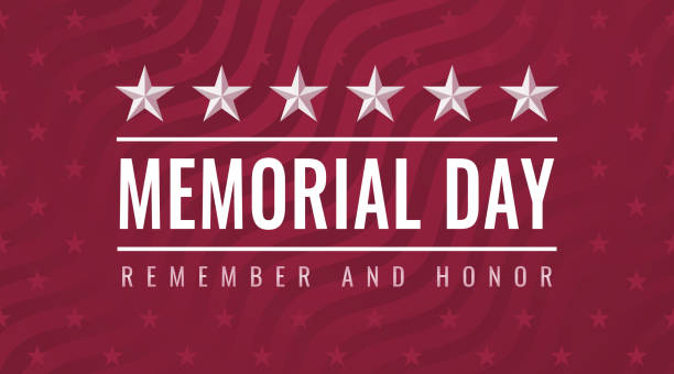 Memorial Day - Remember and Honor greeting card vector art illustration