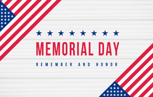 Memorial Day - Remember and Honor Poster. American national holiday vector art illustration