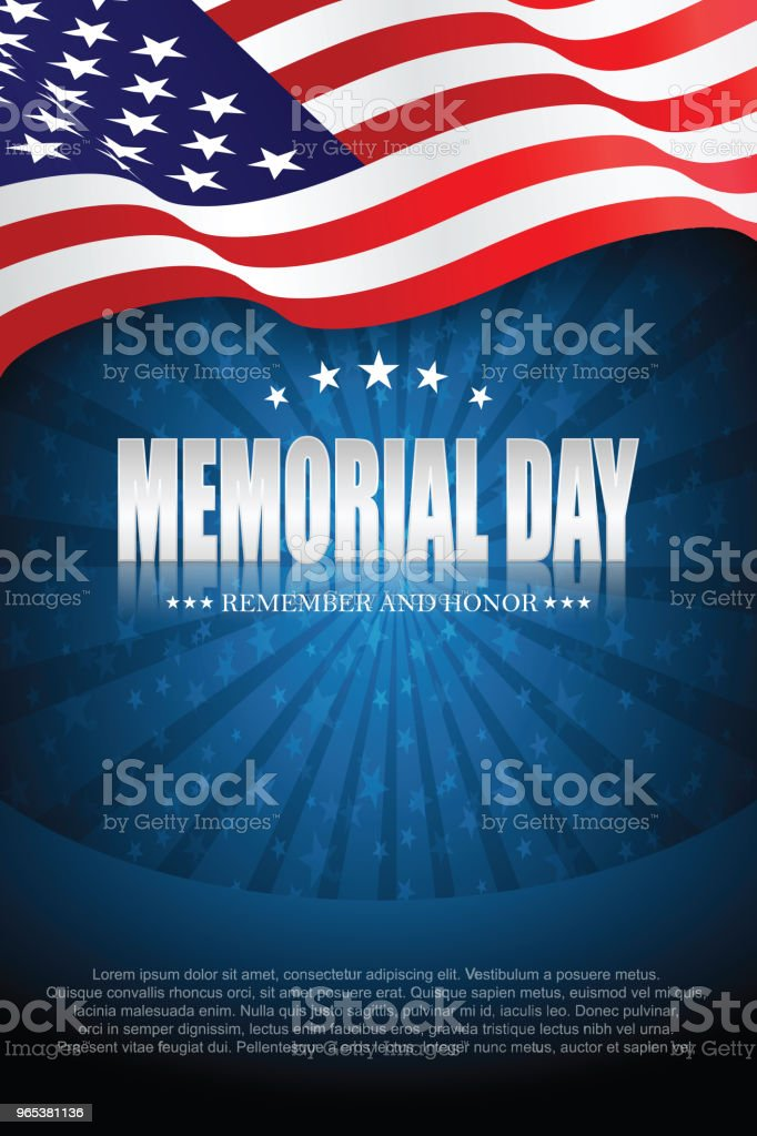 Memorial day. Remember and honor memorial day remember and honor - stockowe grafiki wektorowe i więcej obrazów czerwony royalty-free