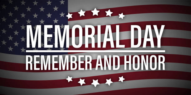 memorial day remember honor usa flag vector - memorial day weekend stock illustrations