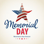 Celebrating the American Memorial Day and honoring who served in the US military