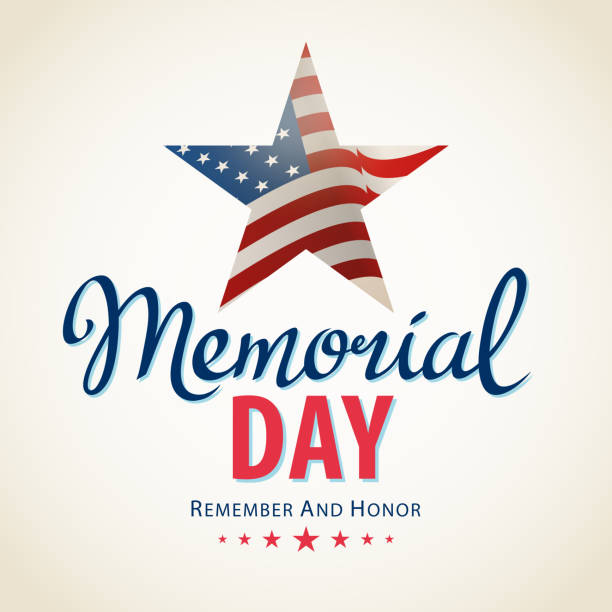 memorial day remembrance - memorial day stock illustrations