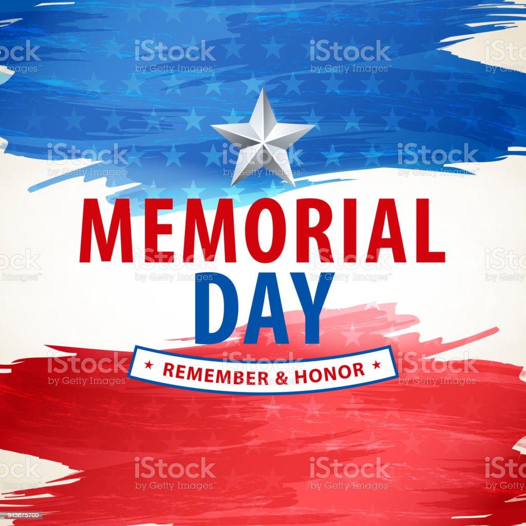 Memorial Day Remembrance vector art illustration