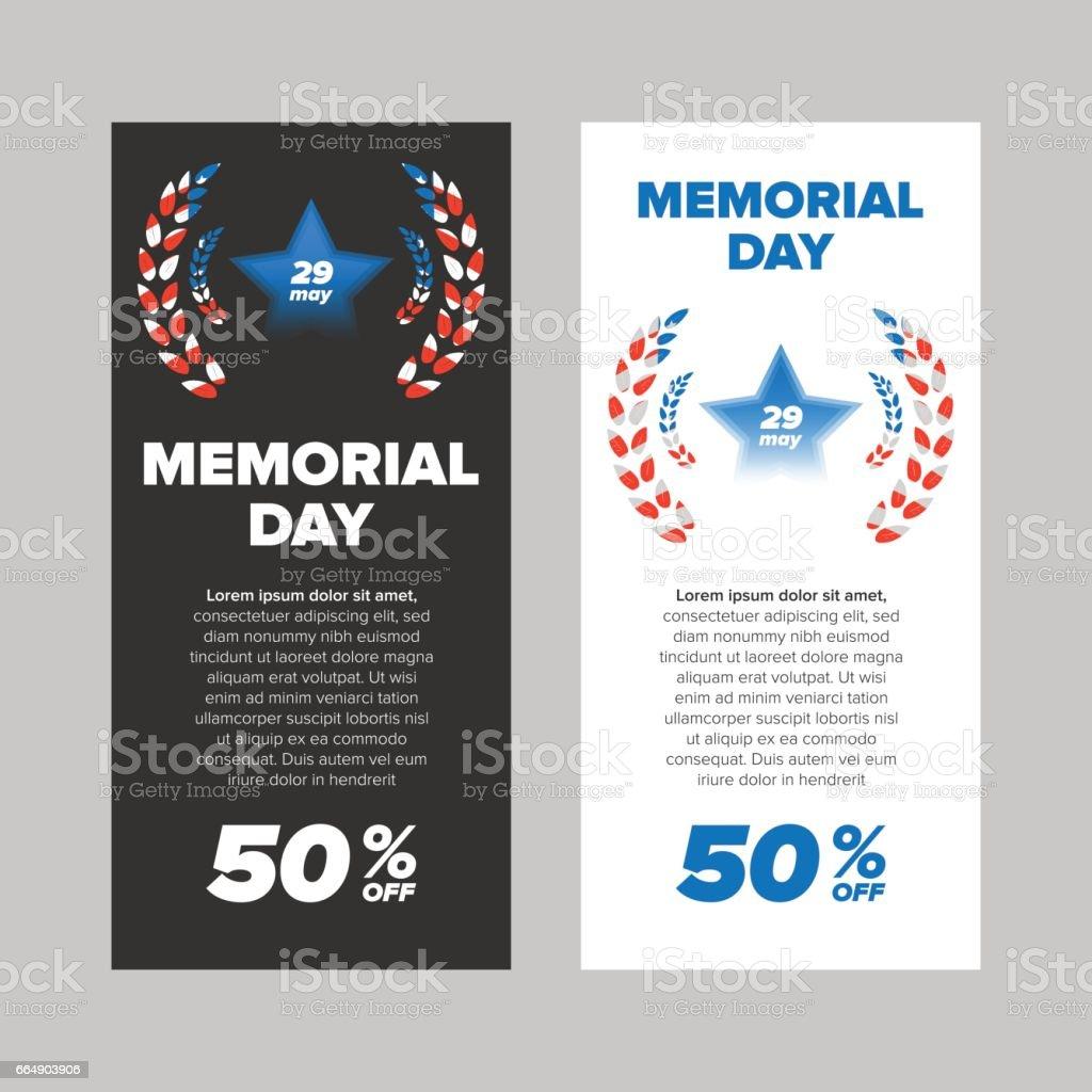 Memorial day sale banner memorial day sale banner - immagini vettoriali stock e altre immagini di a forma di stella royalty-free