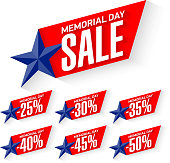 Memorial Day Sale discount labels