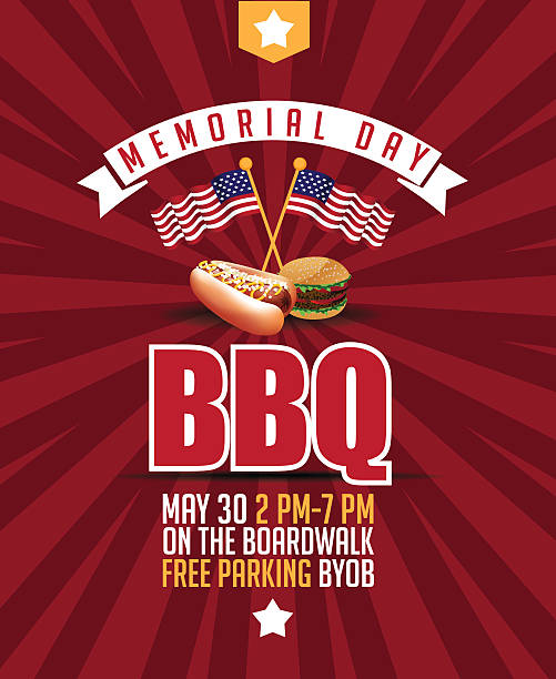 royalty free memorial day bbq clip art vector images