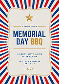 Memorial Day Special Party Invitation Template - Illustration