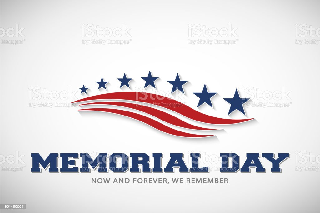 Memorial Day Stars and Stripes Vector Illustration Memorial Day Stars and Stripes Vector Illustration Background American Flag stock vector