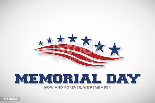 istock Memorial Day Stars and Stripes Vector Illustration 961496664