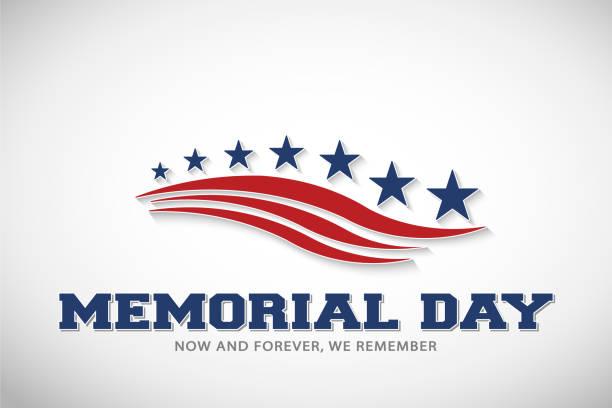 memorial day stars and stripes vector illustration - us flag stock illustrations