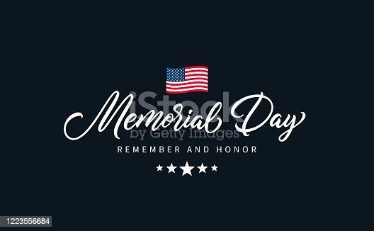 istock Memorial Day text. 1223556684