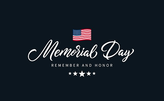 Memorial Day text.