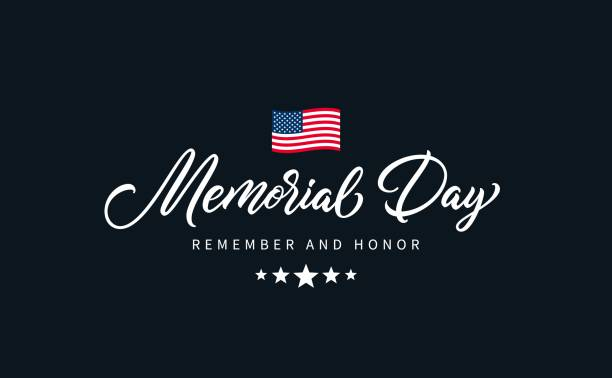 memorial day text. - memorial day stock illustrations