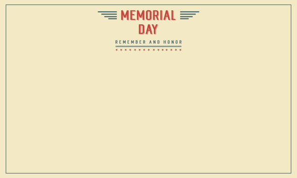 memorial day theme banner collection stock - memorial day weekend stock illustrations