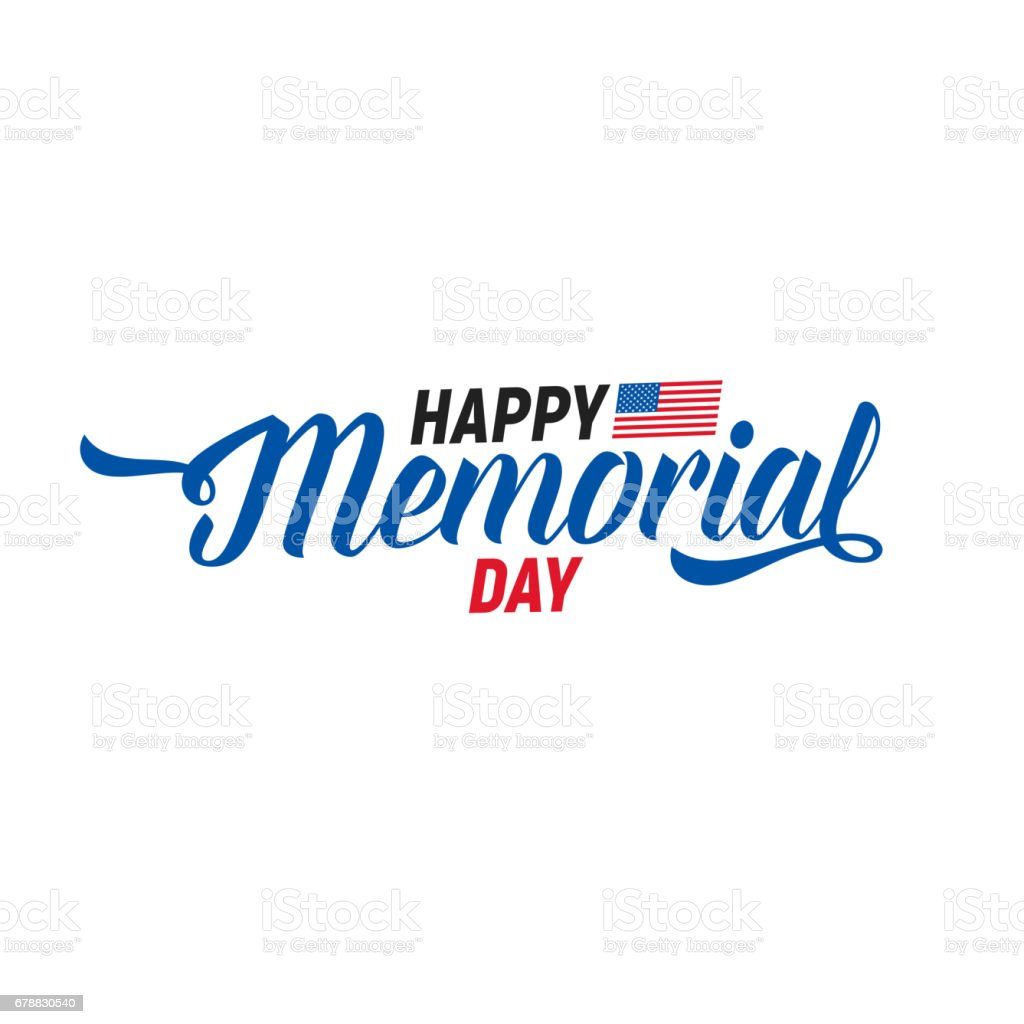 Memorial Day. Typography design layout for USA Memorial Day events, sales, promotion etc. vector art illustration
