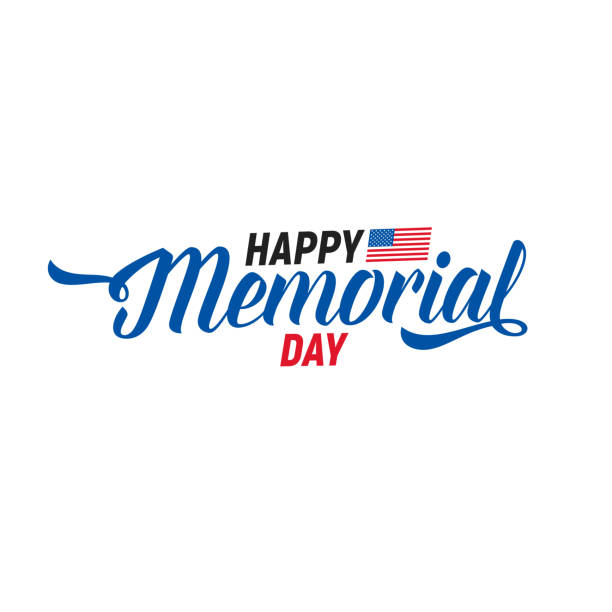 memorial day. typography design layout for usa memorial day events, sales, promotion etc. - memorial day stock illustrations