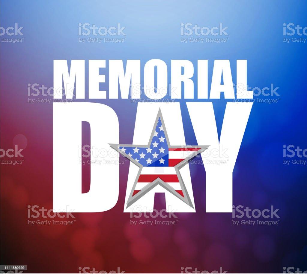 Ilustracion De Dia De Conmemoracion De Los Dias Festivos De Estados Unidos Sobre Un Colorido Rojo Y Azul Y Mas Vectores Libres De Derechos De Abstracto Istock