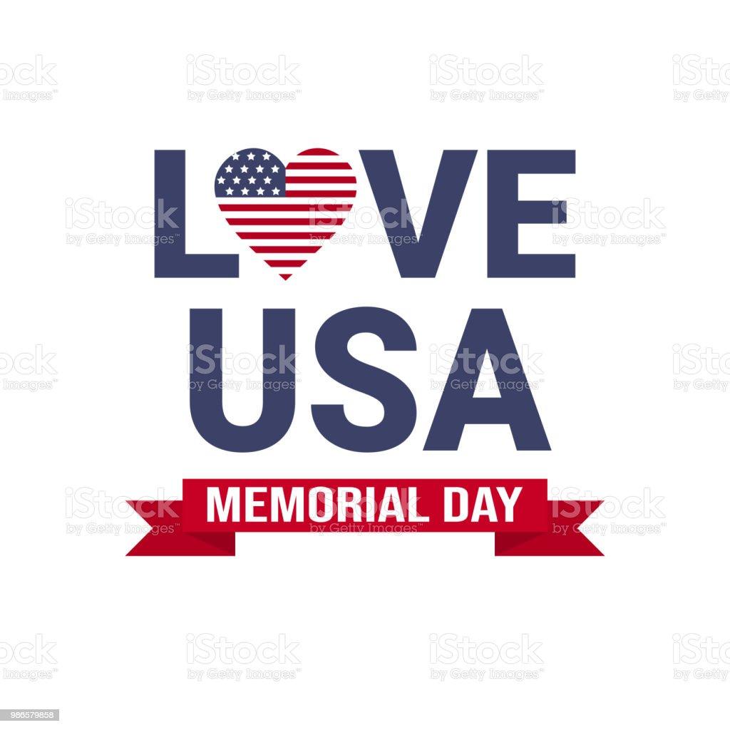 記念日米国グリーティング カード壁紙アメリカ国旗の星と愛白い背景