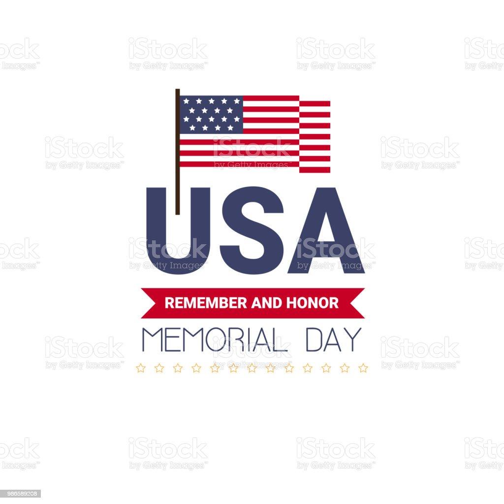 記念日米国グリーティング カード壁紙白い背景フラットなデザインの星