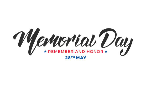 memorial day. usa memorial day lettering typography design - memorial day stock illustrations, clip art, cartoons, & icons
