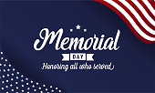 Memorial day card or background. vector illustration.