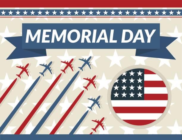 memorial day - memorial day weekend stock illustrations