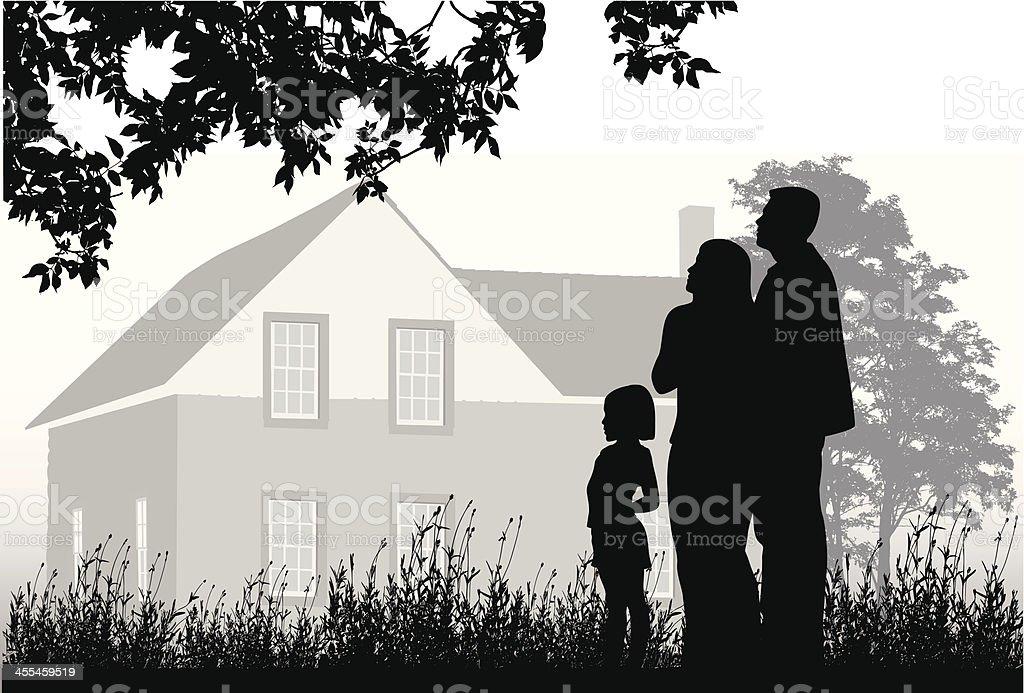 Memories Vector Silhouette royalty-free stock vector art