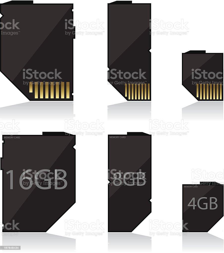 Memory card black royalty-free stock vector art