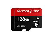 Memory Card Micro SD Icon Vector